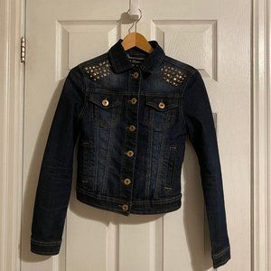 Seductions Sirens Gold Studded Denim Jacket